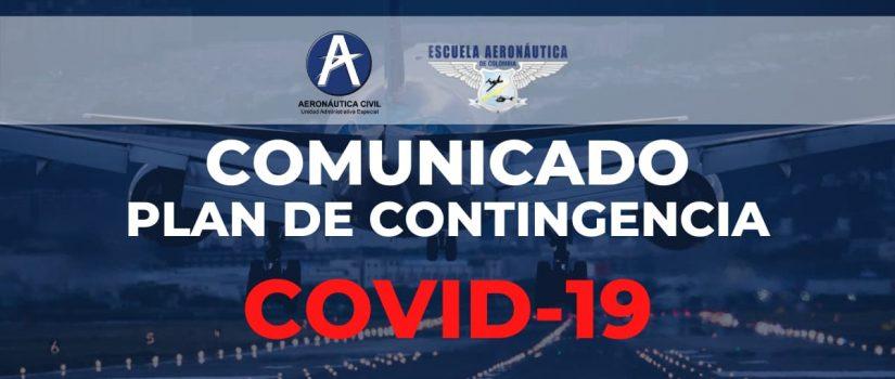 COMUNICADO PLAN DE CONTINGENCIA COVID 19